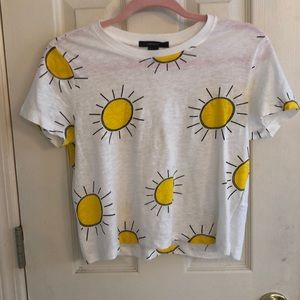 Yellow sun crop top